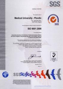 Zertifizierung Med Uni Plovdiv